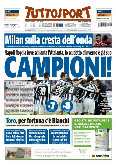 Headline of Tuttosport