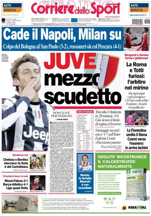 Setengah Dari Juventus sudah memiliki perisai. Semoga setengah perisainya bisa didapat di akhir musim. AMIN :)