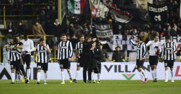 Vittoria!! Ini Bukan Juventus Arena, Tapi Menang tetap Butuh Selebrasi