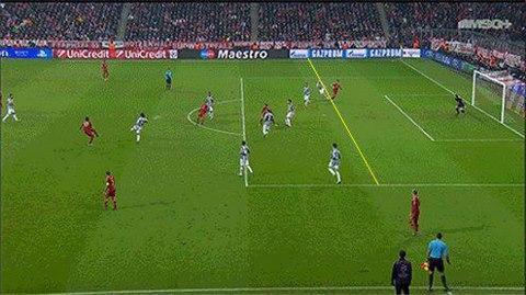 Poisisi Muller Sebelum Terjadinya Gol. Bukankah jelas posisinya offside?? Mark Clattenburg, Are you blind?