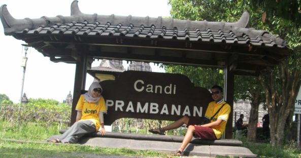 We're in Prambanan Temple