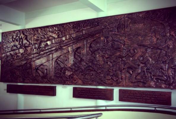 Relief Dinding Di Pintu Masuk Museum